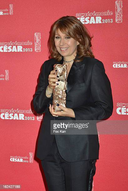 Valerie Benguigui attends the Awards Room Cesar Film Awards 2013 at the Theatre du Chatelet on February 22 2013 in Paris France