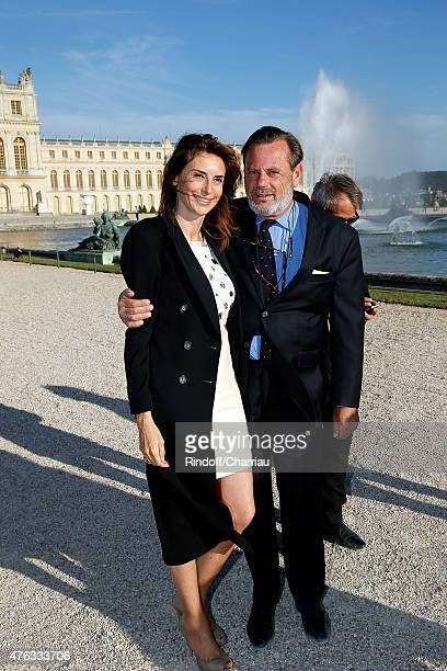Valerie Bernard and Louis Benech attend the Grand Opening Anish Kapoor's Exhibition at Chateau de Versailles on June 7, 2015 in Versailles, France.