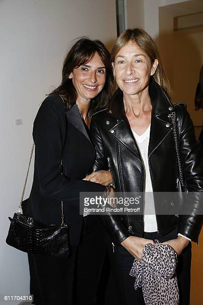 Valerie Bernard and Nathalie Bloch Laine attend Art Architecture by Peter Marino Book Signing at Galerie Thaddeus Ropac on September 30 2016 in Paris...