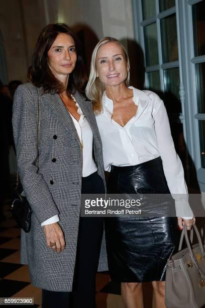 Valerie Bernard and Paola d'Assche attend the 'Picasso 1932' Exhibition Opening at Musee national PicassoParis on October 10 2017 in Paris France