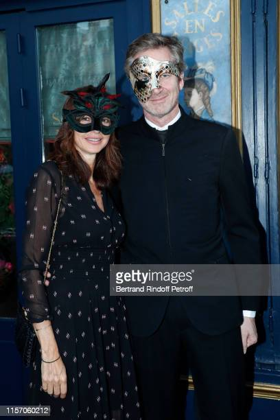 Valerie Berner and Frederic Jousset attend the Laperouse Mask Ball on the occasion of the inauguration evening of the Laperouse Restaurant as part of...