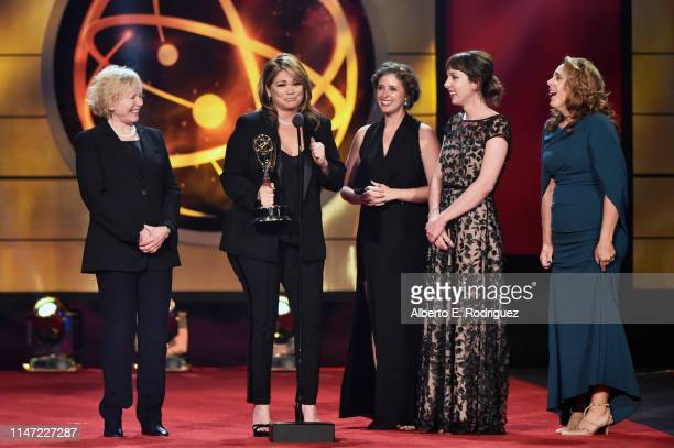 Valerie Bertinelli accepts the Outstanding Culinary Host award for 'Valeries Home Cooking' onstage at the 46th annual Daytime Emmy Awards at Pasadena...