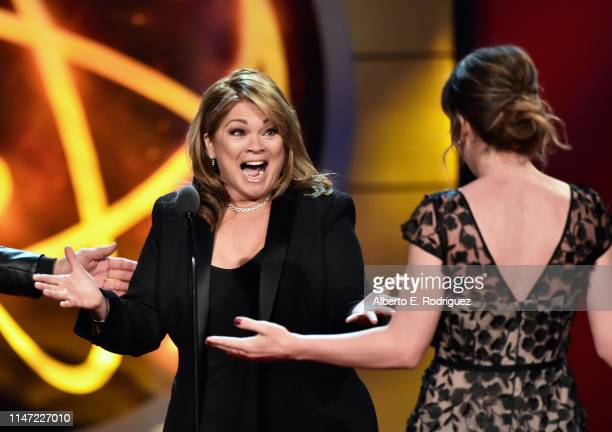 Valerie Bertinelli accepts the Outstanding Culinary Program award for 'Valeries Home Cooking' onstage at the 46th annual Daytime Emmy Awards at...