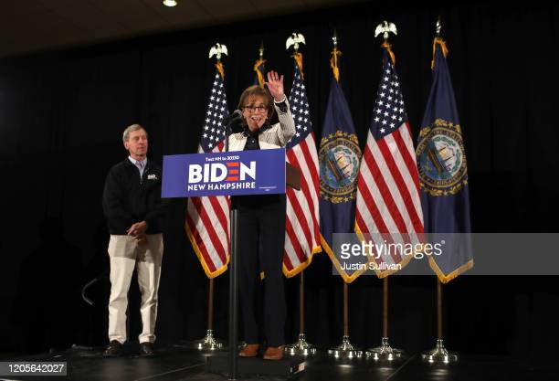 Valerie Biden Owens sister of Democratic presidential candidate former Vice President Joe Biden speaks during the campaign's primary night event at...