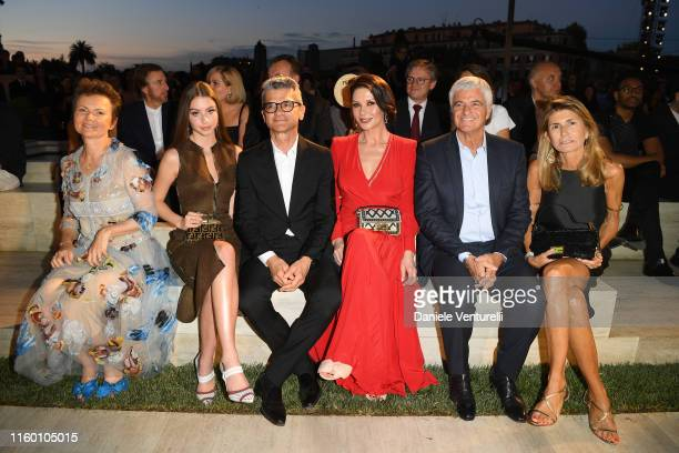 Valerie Brunschwig Serge Brunschwig Antonio Belloni and Giovanna Belloni attends the Fendi Couture Fall Winter 2019/2020 Show on July 04 2019 in Rome...