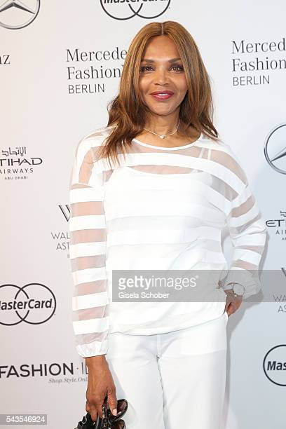 Valerie Campbell attends the Minx by Eva Lutz show during the Mercedes-Benz Fashion Week Berlin Spring/Summer 2017 at Erika Hess Eisstadion on June...