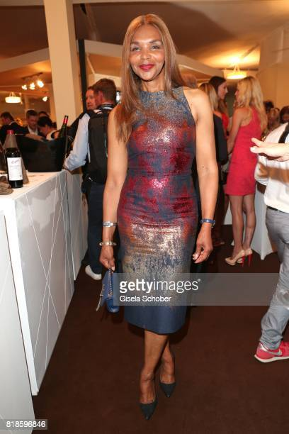 Valerie Campbell during the media night of the CHIO 2017 on July 18 2017 in Aachen Germany