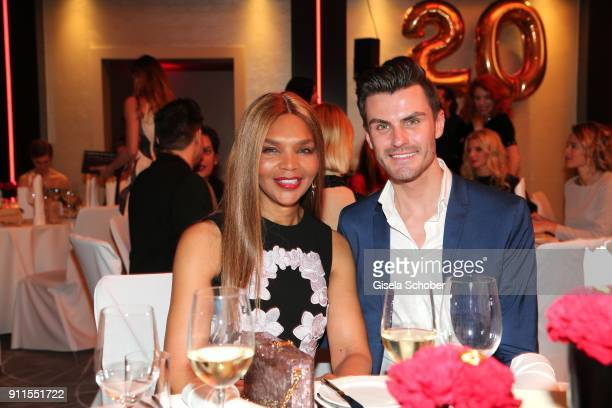 Valerie Campbell Morris mother of Naomi Campbell and Henry Duval during the Lambertz Monday Night pre dinner at Hotel Marriott on January 28 2018 in...