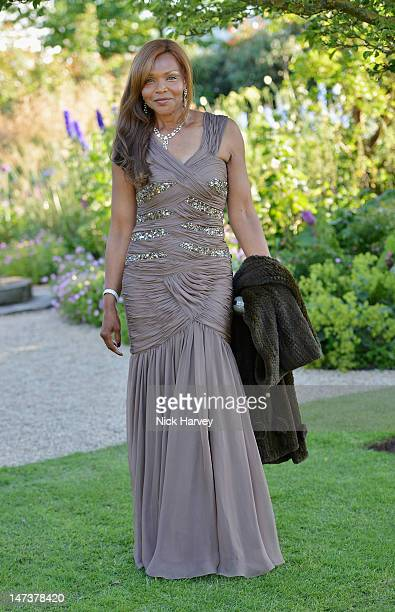 Valerie Campbell poses at The 14th Annual White Tie and Tiara Ball to Benefit Elton John AIDS Foundation in Association with Chopard at Woodside on...