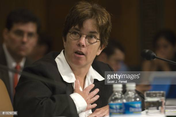 Valerie Caproni general counsel for the FBI during the Senate Judiciary hearing on coercive interrogation techniques