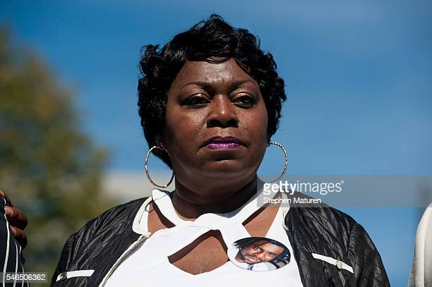 Valerie Castile mother of Philando Castile speaks to MSNBC after a press conference on July 12 2016 in St Paul Minnesota Judge Glenda Hatchett former...