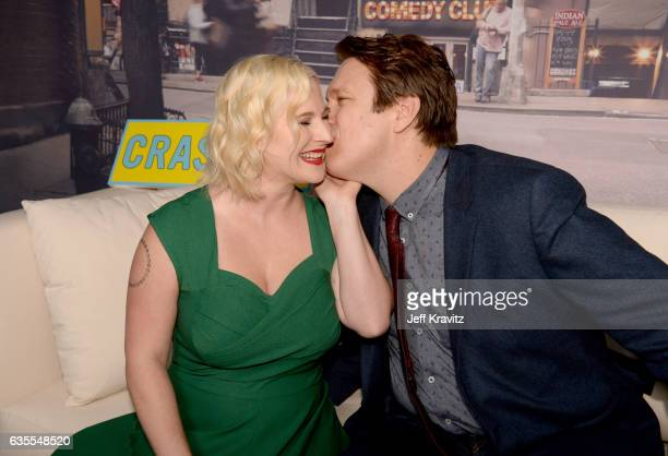 Valerie Chaney and creator/Executive Producer Pete Holmes attend HBO's Crashing premiere and after party on February 15 2017 in Los Angeles California