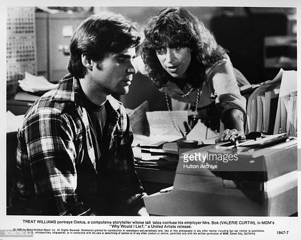 Valerie Curtin confronts Treat Williams in a scene from the MGM movie Why Would I Lie circa 1980