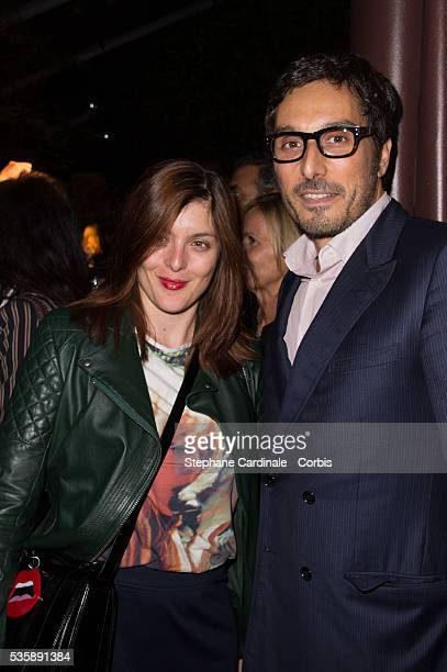 Valerie Donzelli and Vincent Elbaz attend the 'J'Aime La Mode' Cocktail Event Hosted by Chef Thierry Marx at Hotel Mandarin Oriental on September 23...
