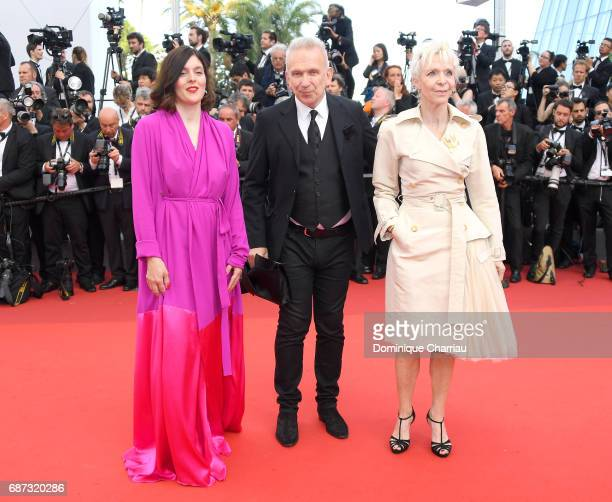 Valerie Donzelli JeanPaul Gaultier and Tonie Marschall attend the 70th Anniversary screening during the 70th annual Cannes Film Festival at Palais...