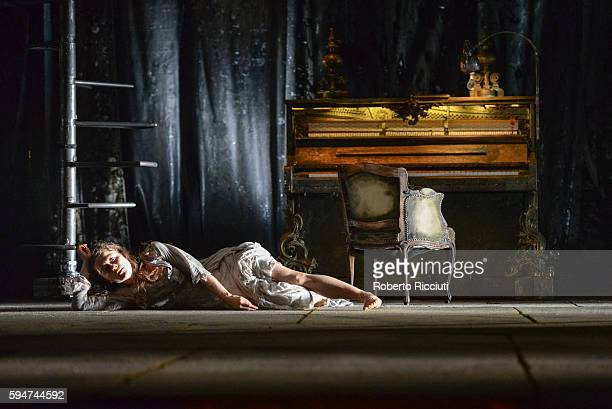 Valerie Doucet of Compagnie du Hanneton perform on stage 'The Toad Knew' during the Edinburgh International Festival at King's Theatre on August 24...