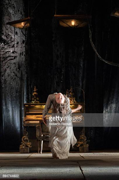 Valerie Doucet of Compagnie du Hanneton performs on stage 'The Toad Knew' during the Edinburgh International Festival at King's Theatre on August 24...