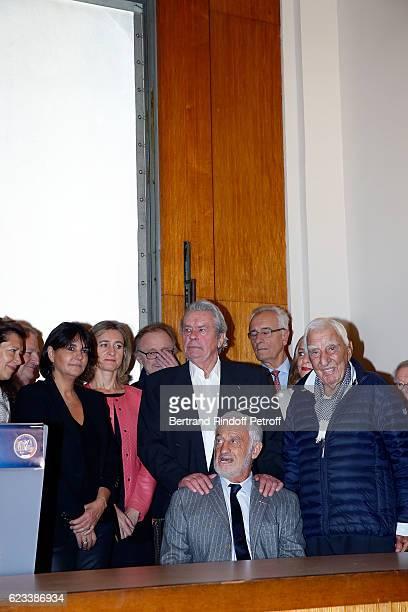 Valerie Expert Alain Delon JeanPaul Belmondo and Charles Gerard attend the 70 th Anniversary of Prix du Quai des Orfevres at 36 quai des Orfevres on...