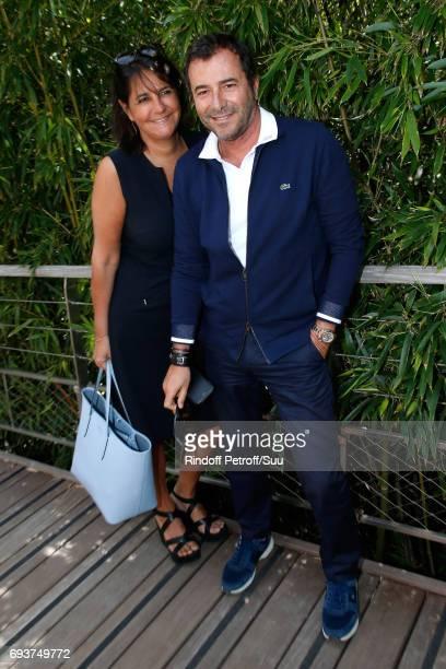 Valerie Expert and Bernard Montiel attend the 2017 French Tennis Open - Day Twelve at Roland Garros on June 8, 2017 in Paris, France.