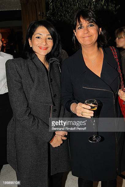 Valerie Expert and Jeannette Bougrab attend 'La Petite Maison De Nicole' Inauguration Cocktail at Hotel Fouquet's Barriere on January 22 2013 in...
