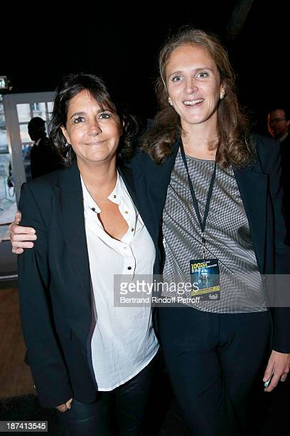 Valerie Expert and Police captain Marie Deniau pose as they attends the 100th Anniversary of The Paris Judiciary Police exhibition opening on...
