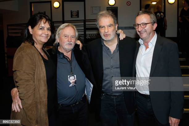 Valerie Expert Claude Bouillon Raphael Mezrahi and Jacques Expert attend 'Laurent Gerra Sans Moderation' Show at L'Olympia on December 26 2017 in...