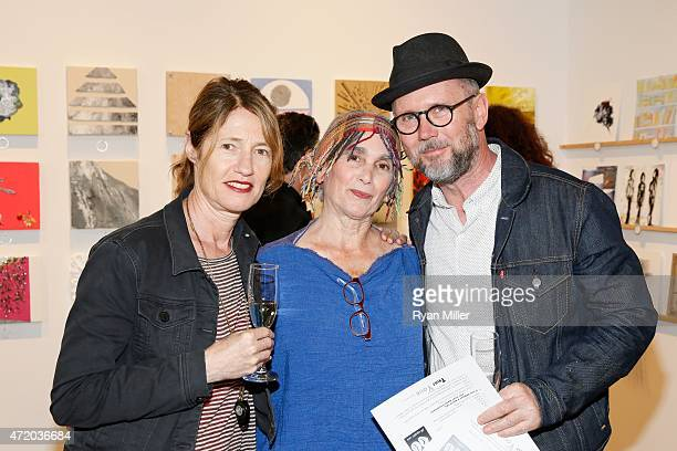 Valerie Faris Director Elsa Longhauser Executive Director SMMoA and Jonathan Dayton Director pose during the Santa Monica Museum of Art celebrates...