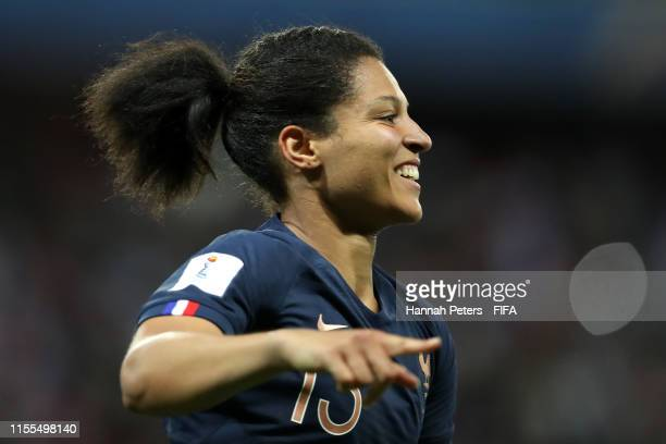 Valerie Gauvin of France celebrates after scoring her team's first goal during the 2019 FIFA Women's World Cup France group A match between France...