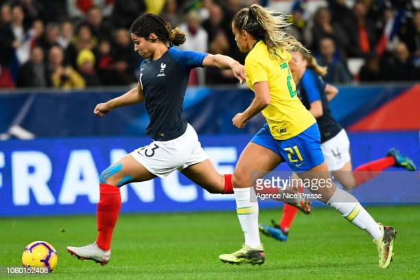 Valerie Gauvin of France during the International Women match between France and Brazil at Allianz Riviera Stadium on November 10 2018 in Nice France