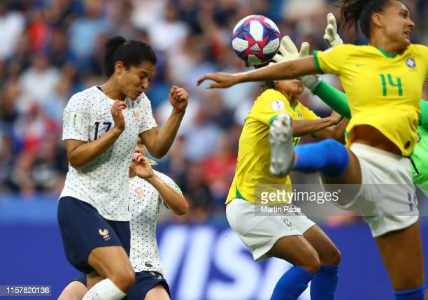 Valerie Gauvin of France scores her team's first goal which is then disallowed following a VAR review during the 2019 FIFA Women's World Cup France...