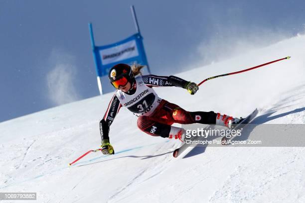 Valerie Grenier of Canada in action during the Audi FIS Alpine Ski World Cup Women's Super G on December 8 2018 in St Moritz Switzerland