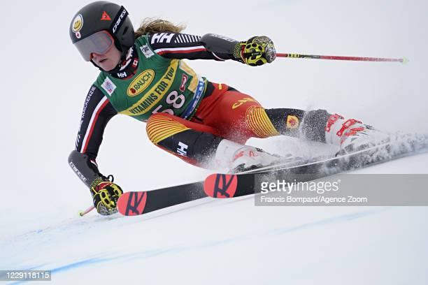 Valerie Grenier of Canada in action during the Audi FIS Alpine Ski World Cup Women's Giant Slalom on October 17, 2020 in Soelden, Austria.
