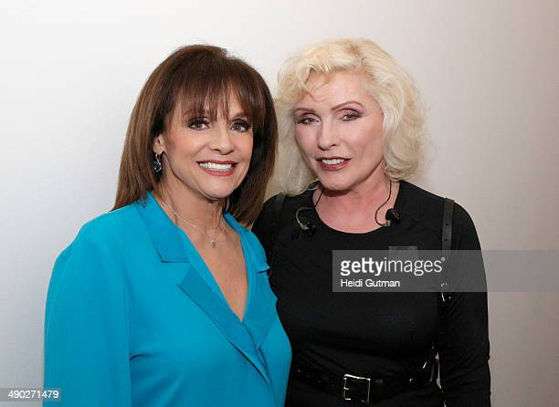 Valerie Harper and Debbie Harry meet backstage at GOOD MORNING AMERICA, 5/13/14, airing on the Walt Disney Television via Getty Images Television...