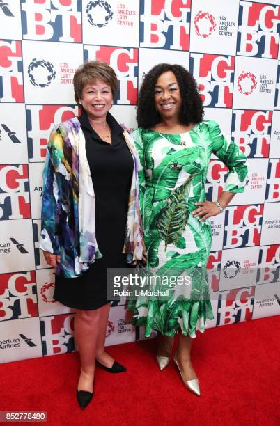 Valerie Jarrett and Shonda Rhimes attends the Los Angeles LGBT Center's 48th Anniversary Gala Vanguard Awards at The Beverly Hilton Hotel on...