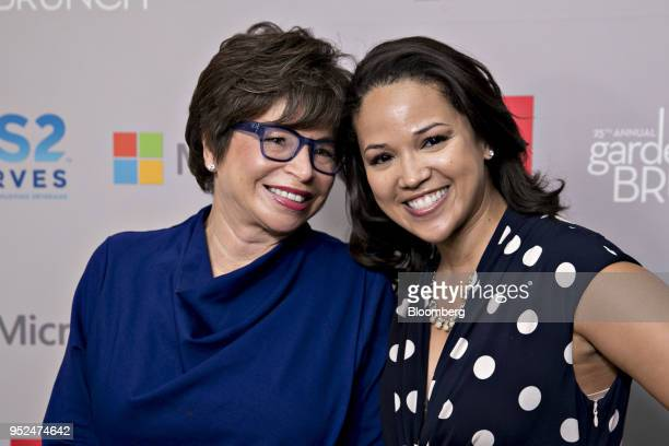 Valerie Jarrett former senior advisor to US President Barack Obama left and daughter Laura Jarrett attend the 25th Annual White House Correspondents...