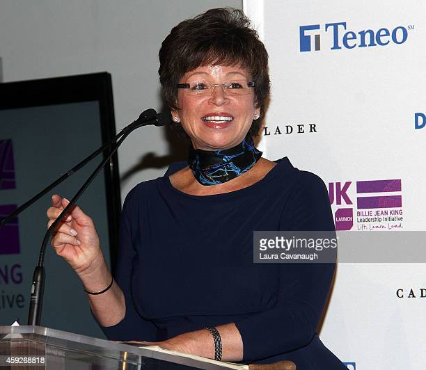Valerie Jarrett Senior Advisor to the President of the United States attends the Billie Jean King Leadership Initiative Gala at Powerhouse at The...
