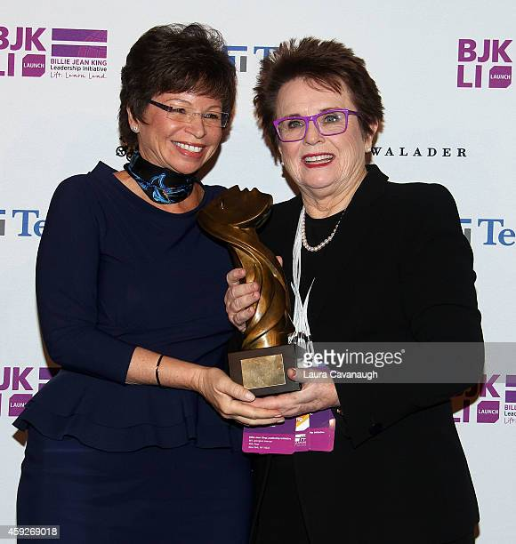 Valerie Jarrett Senior Advisor to the President of the United States and Billie Jean King attend the Billie Jean King Leadership Initiative Gala at...
