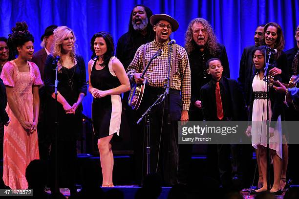 Valerie June Alison Krauss Shannon McNally Alvin Youngblood Hart host Dom Flemons Robert Plant family guests and the complete lineup of artists sing...