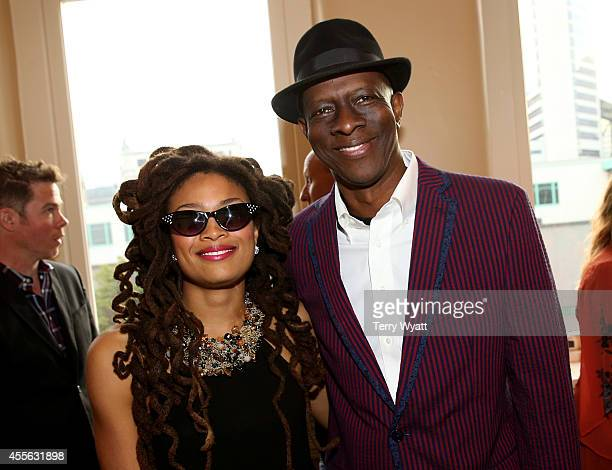 Valerie June and Keb' Mo' attend the VIP party before the 13th annual Americana Music Association Honors and Awards Show at the Ryman Auditorium on...