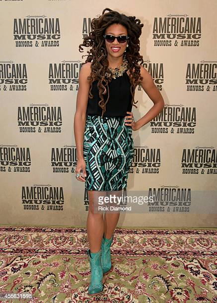 Valerie June attends the 13th annual Americana Music Association Honors and Awards Show at the Ryman Auditorium on September 17 2014 in Nashville...