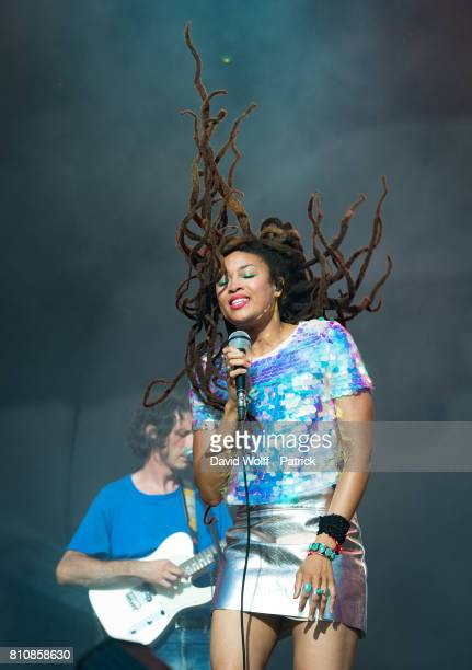 Valerie June performs at Fnac Live Day 03 on July 8 2017 in Paris France