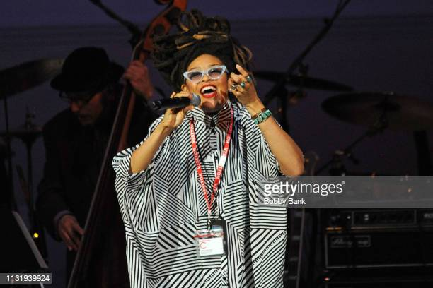 Valerie June performs at the Michael Dorf Presents: The Music Of Van Morrison at Carnegie Hall on March 21, 2019 in New York City.