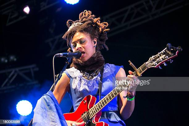 Valerie June performs during Day 4 of Bestival at Robin Hill Country Park on September 8 2013 in Newport Isle of Wight
