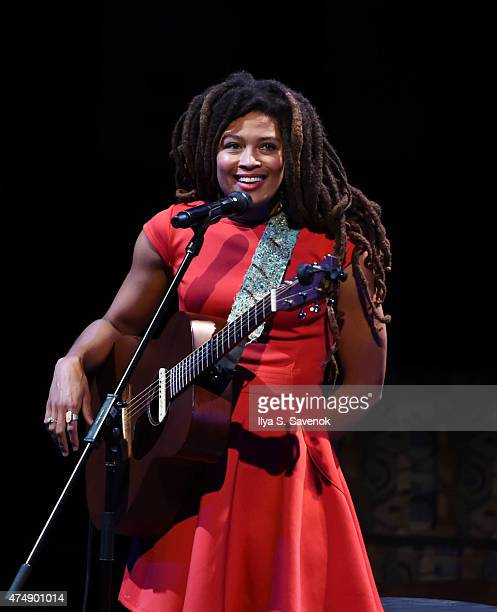 Valerie June performs during GRAMMY Camp Basic Training at Pace University on May 27 2015 in New York City