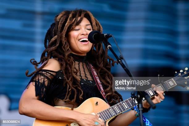 Valerie June performs during Pilgrimage Music Cultural Festival on September 24 2017 in Franklin Tennessee