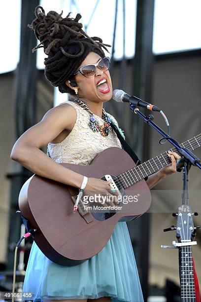Valerie June performs during the 2014 Hangout Music Festival at Hangout Beach on May 16 2014 in Gulf Shores Alabama