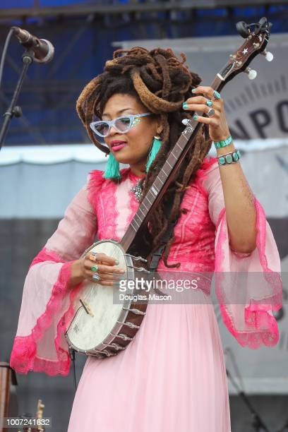 Valerie June performs during the Newport Folk Festival 2018 at Fort Adams State Park on July 28, 2018 in Newport, Rhode Island.