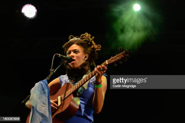 Valerie June performs on Day 4 of Bestival at Robin Hill Country Park on September 8 2013 in Newport Isle of Wight