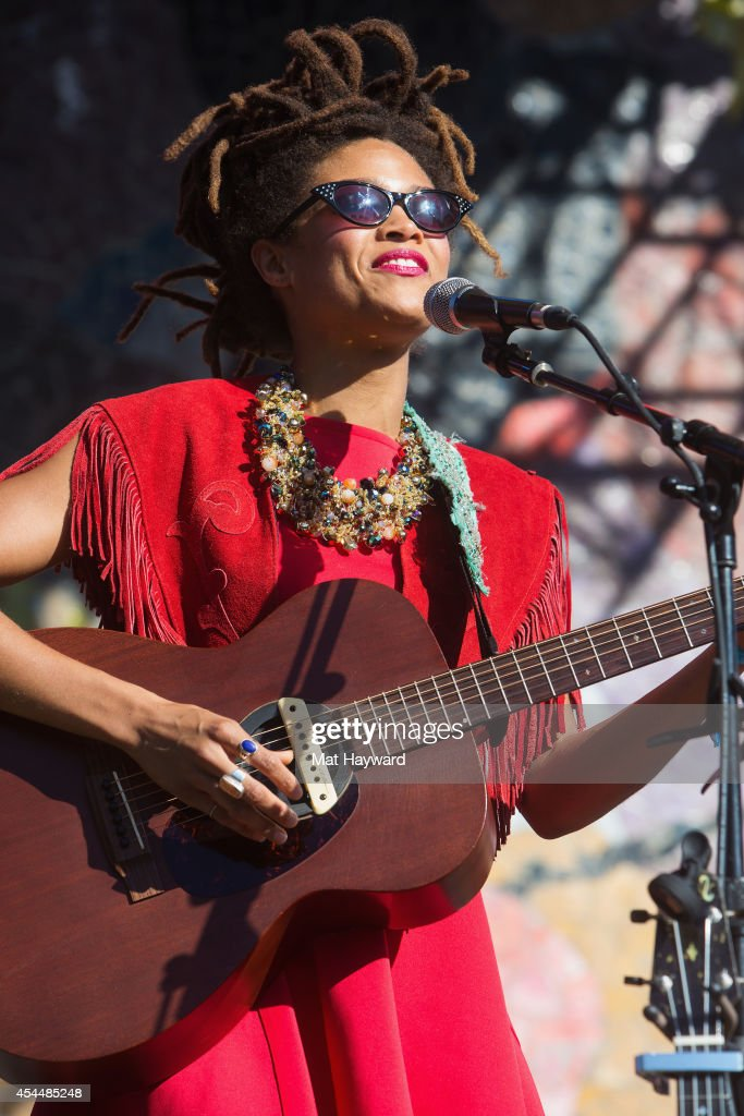 Valerie June performs on stage during the Bumbershoot Music Festival on September 1, 2014 in Seattle, Washington.