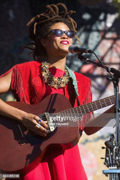 Valerie June performs on stage during the Bumbershoot Music Festival on September 1 2014 in Seattle Washington